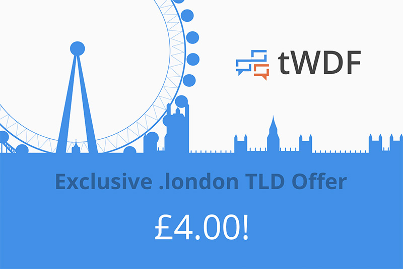 tWDF - .london domains for 4 quid!