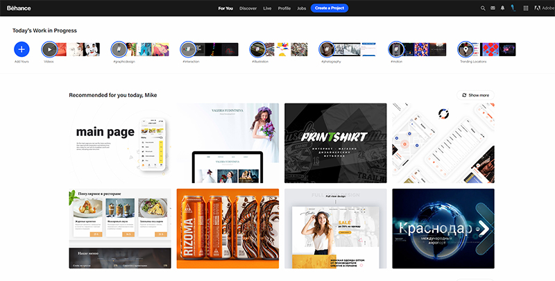 Behance, A freelance web designer must have